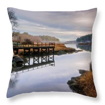 Frenchman's Pier Gloucester Throw Pillow