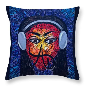Frequencial - Abstract Art Music Painting - Ai P.nilson Throw Pillow