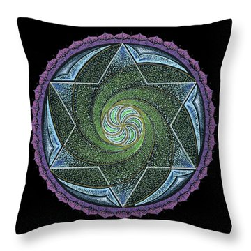 Throw Pillow featuring the painting Frequency Harmonizer by Keiko Katsuta