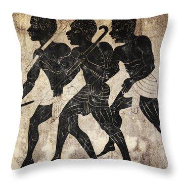 Fresco - Hunters Throw Pillow by Michal Boubin