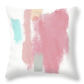 Fresh Abstract 3- Art By Linda Woods Throw Pillow
