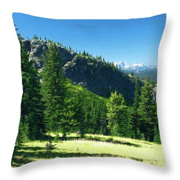 Throw Pillow featuring the photograph Fresh Air In The Mountains Photo Art by Sharon Talson