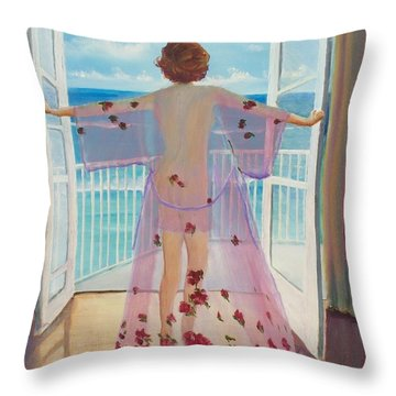 Fresh Air Throw Pillow by Marcel Quesnel