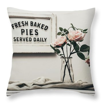 Fresh Baked Throw Pillow by Kim Hojnacki