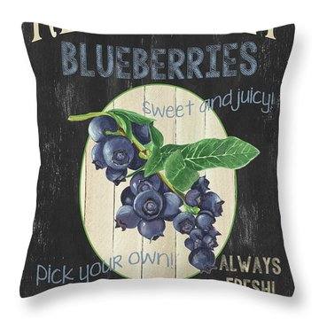 Throw Pillow featuring the painting Fresh Berries 1 by Debbie DeWitt