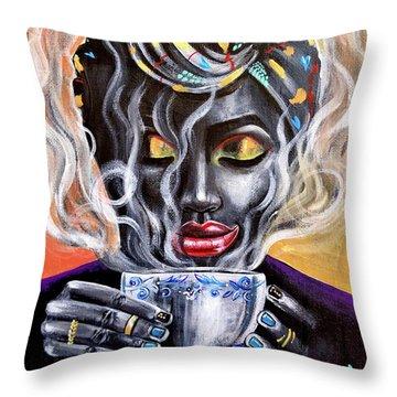 Fresh Brewed Throw Pillow