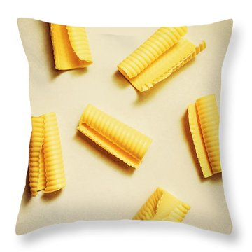 Fresh Butter Curls On Table Throw Pillow
