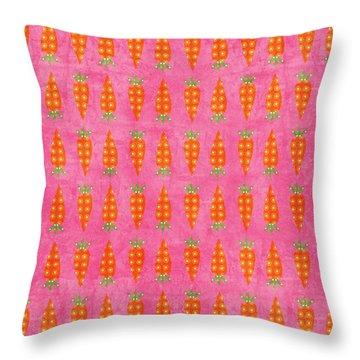 Fresh Carrots Throw Pillow