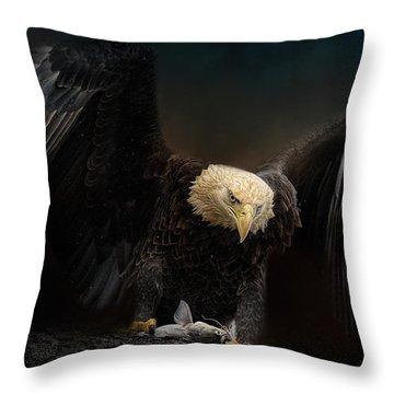 Fresh Catch Throw Pillow by Jai Johnson