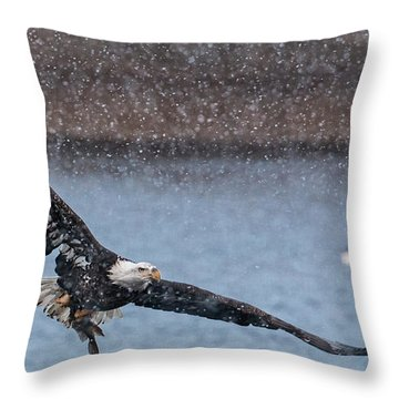 Fresh Catch Throw Pillow by Kelly Marquardt