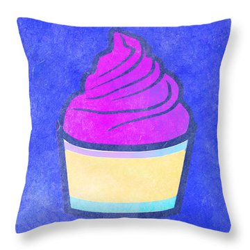 Fresh Cupcakes With Pink Icing Throw Pillow