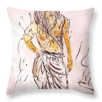 Fresh Dip Throw Pillow by Piety Dsilva