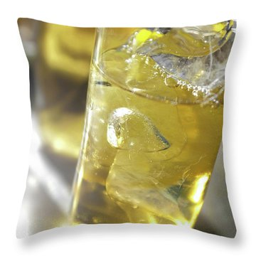 Throw Pillow featuring the photograph Fresh Drink With Lemon by Carlos Caetano