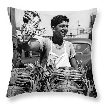 Fresh Dungeness Crab In Sf Throw Pillow