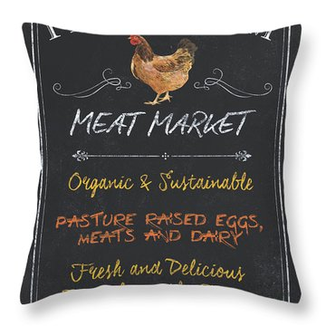 Fresh Farm Meat Throw Pillow