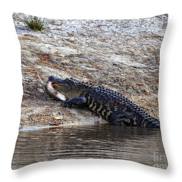 Throw Pillow featuring the photograph Fresh Fish by Al Powell Photography USA