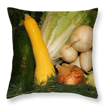 Fresh Garden Produce Throw Pillow