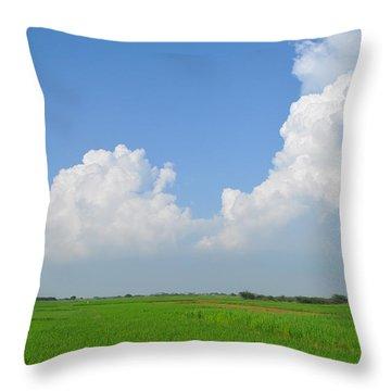 Fresh Green Throw Pillow