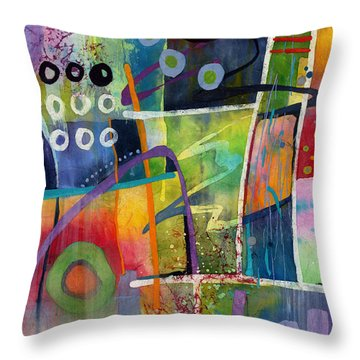 Throw Pillow featuring the painting Fresh Jazz by Hailey E Herrera