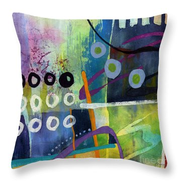 Fresh Jazz In A Square 2 Throw Pillow by Hailey E Herrera