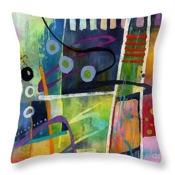 Fresh Jazz In A Square Throw Pillow by Hailey E Herrera