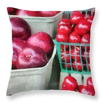 Fresh Market Fruit Throw Pillow