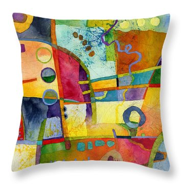 Fresh Paint Throw Pillow by Hailey E Herrera