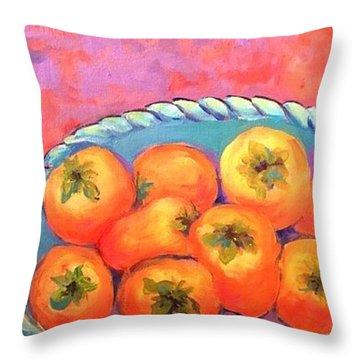 Fresh Persimmons Throw Pillow