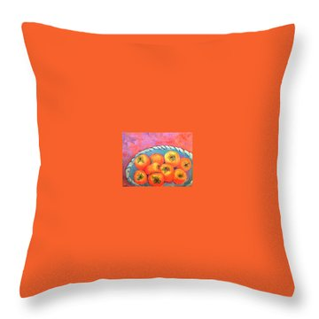 Fresh Persimmons Throw Pillow
