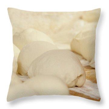 Fresh Pizza Dough Throw Pillow