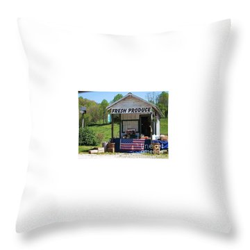 Throw Pillow featuring the photograph Fresh Produce by Donna Dixon