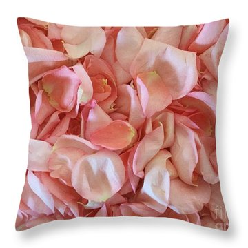 Fresh Rose Petals Throw Pillow