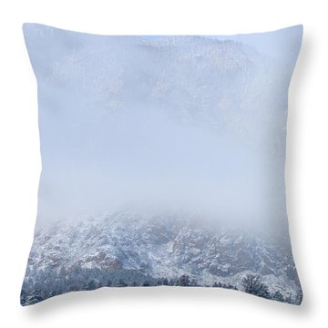 Fresh Snow In Cheyenne Mountain State Park Throw Pillow