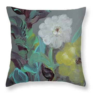 Throw Pillow featuring the painting Fresh Start  by Robin Maria Pedrero