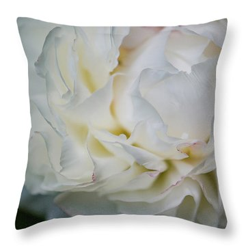 Freshly Cut Peony Throw Pillow