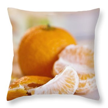 Throw Pillow featuring the photograph Freshly Peeled Citrus by Cindy Garber Iverson