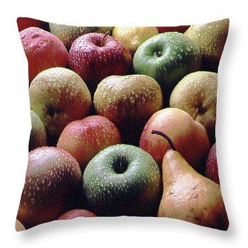 Freshly Picked Throw Pillow by Steven Huszar