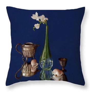 Fresia Et Argenterie Throw Pillow by Karo Evans