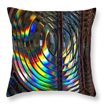 Fresnel Lens Point Arena Lighthouse Throw Pillow