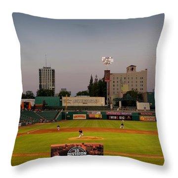 Fresno Grizzlies Throw Pillow