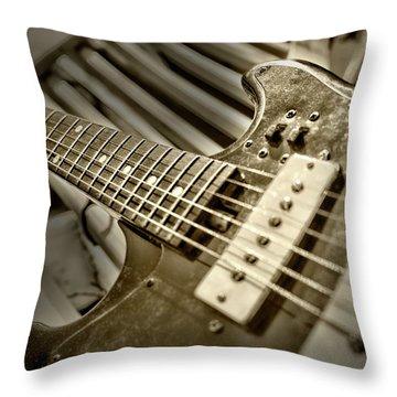 Frettin Throw Pillow