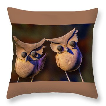 Frick And Frack Throw Pillow by Paul Wear