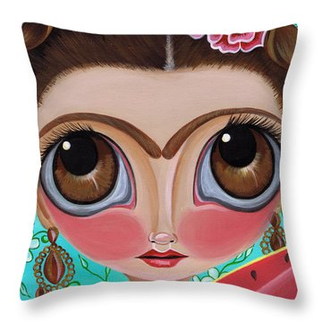 Frida And The Watermelon Throw Pillow