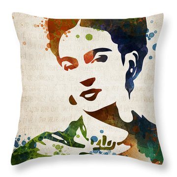 Frida Kahlo Throw Pillow by Mihaela Pater