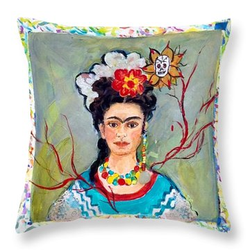 Fridamania Throw Pillow