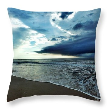 Friday Morning Throw Pillow by Christy Ricafrente