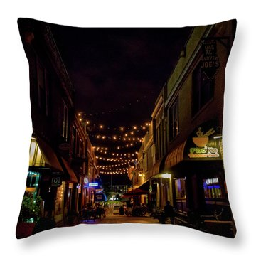 Friday Night Alley Throw Pillow