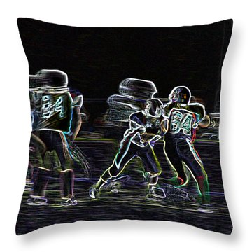 Friday Night Under The Lights Throw Pillow by Chris Thomas