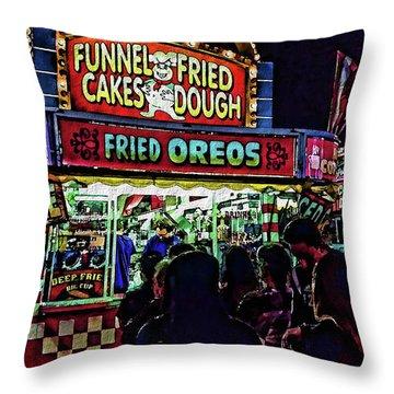 Fried Oreos Throw Pillow