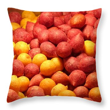 Throw Pillow featuring the photograph Fried Sweet Potato Balls by Yali Shi